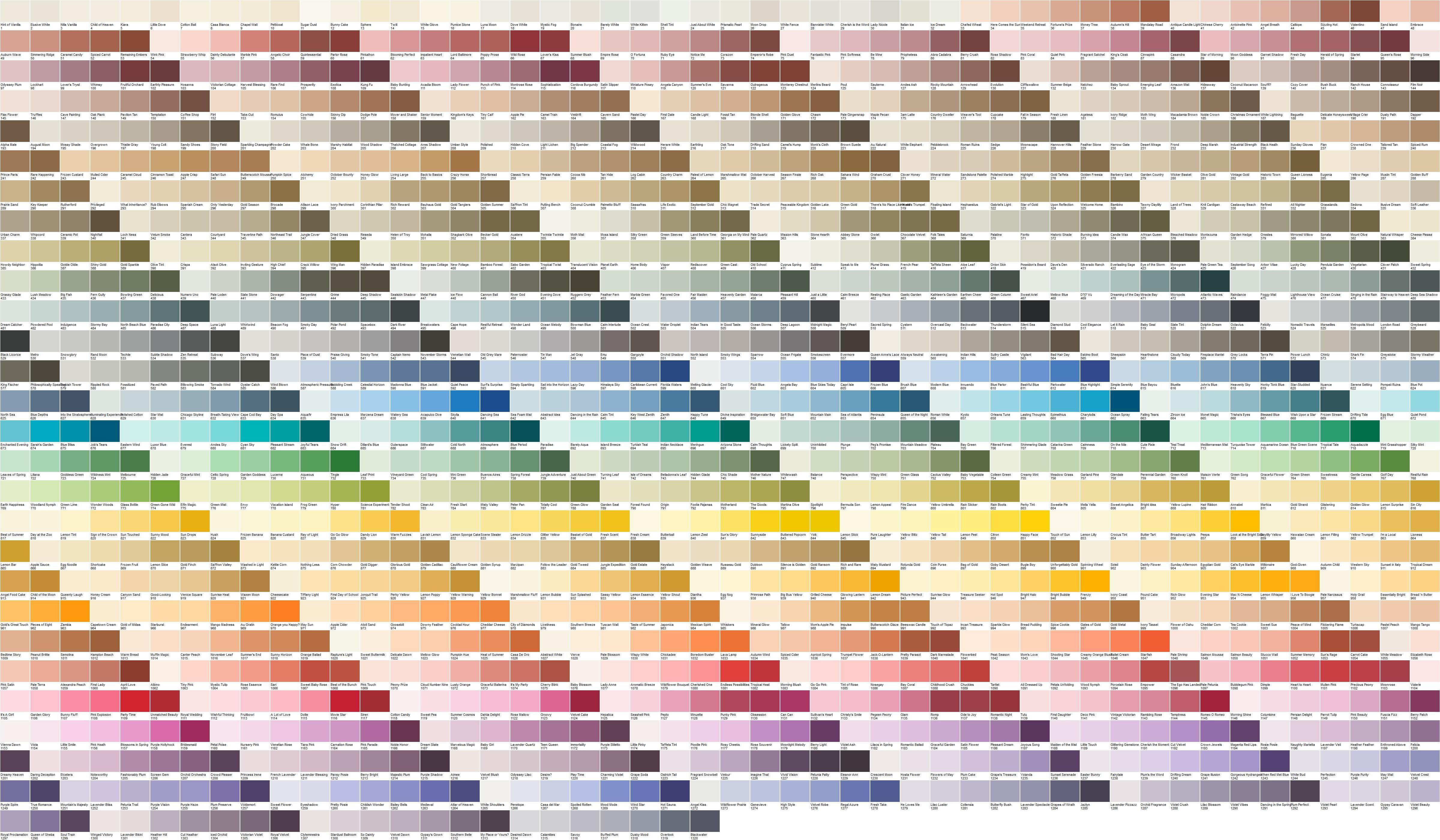 davis paint color palette