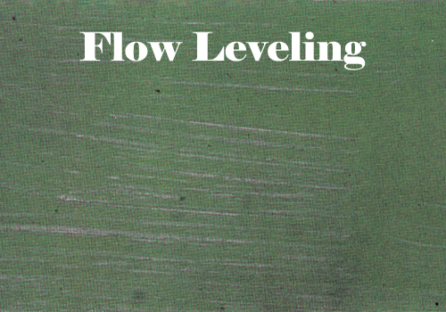 Flow and Leveling Failure
